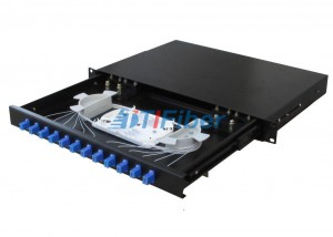 Sliding Type Fiber Optics Patch Panel Box For LC Fiber Optic Pigtail