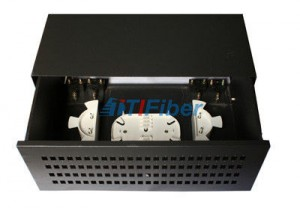 72 / 96 Core Black Box Fiber Optic Patch Panel With Single Mode Pigtail