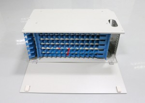 72 / 96 Core Fiber Optic Patch Panel with Singlemode Fiber Optic Pigtails