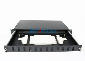 SC Duplex 1U 12 Port Fiber Optic Patch Panel For Telecom Network