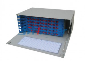 SC ODF Rack Mount Fiber Patch Panel With 12 Core Fiber Splice Tray