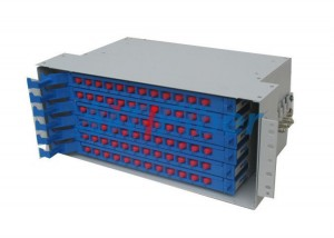 Aluminium Optical Fiber Patch Panel , SC Simplex 72 Core ODF Box