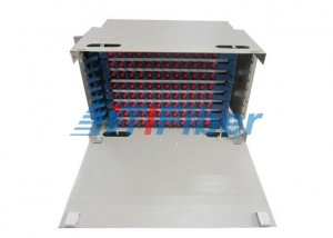 144 Core 8U ODF Fiber Optic Patch Panel With FC Square Fiber Adapter , Rack Mount Patch Panel