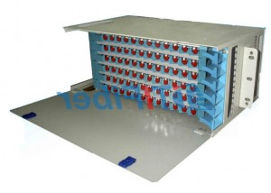 96 Port Patch Panel  SC UPC Simplex Port , Fixed Type ODF Wall Mount Fiber Patch Panel