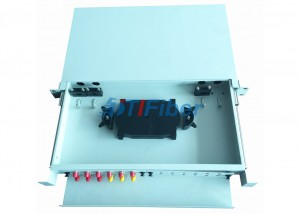 ST 24 Core Slidable Fiber Optic Junction Box With Cold Rolled Steel