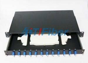 12 Duplex Port  Fiber Optic Terminal Box with 19 Inch Standard Structure