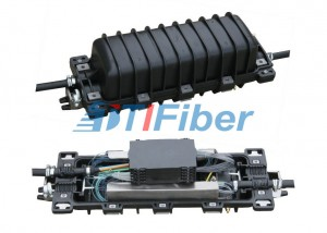 2 Input And 2 Output , In Line Outdoor Fiber Splice Enclosure With 12 Fiber Splice Tray