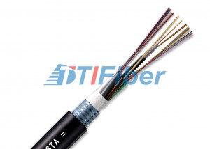 Outdoor Underground Fiber Optic Wire 2 Core Bending Resistance For Direct Buried