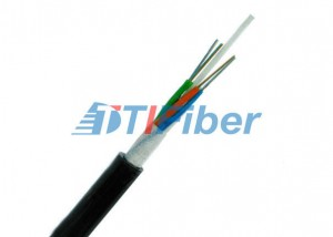 High Strength Fiber Optic Wire OM3 / OM4 With Black MDPE / HDPE Outer Jacket