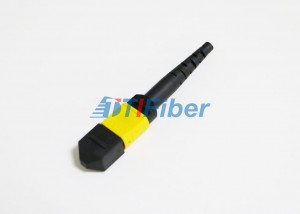 OS2 Ribbon Single Mode Fiber Optic Cable MTP / MPO Optic Connector