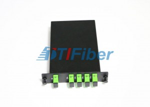 LGX PLC Fiber Optic Splitter Skatolo kun SC APC Simplex Fiber Optic Adaptadores