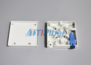 SC / LC Fiber Adapter Fiber Optic Splice Box 2 Port Socket Panel