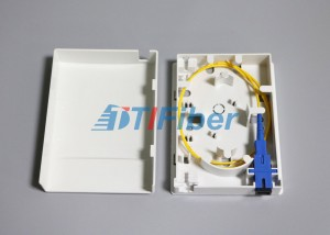 Compact Structure Faceplate FTTH Mini Fiber Optic Terminal Box / Ofc Termination Box