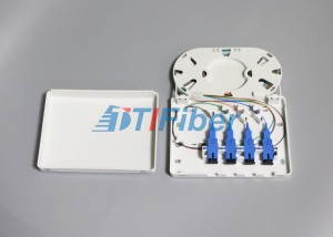 Cheapest Factory Fibr Optic Splitter - 4 Port SC FC ST LC Indoor Fiber Optic Termination Box For FTTD Network – TTI