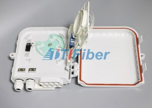 1*8 PLC Fiber Splitter Box  Wall Mounted Outdoor Distribution Box