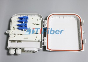 SC 8 Port Waterproof Fiber Optic Distribution B...