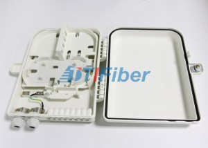 16 Port Optical Fiber Distribution Box With 1*16 PLC Fiber Splitter