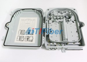SC 12 Port Wall Mount Fiber Termination Box With ABS Plastic Housing