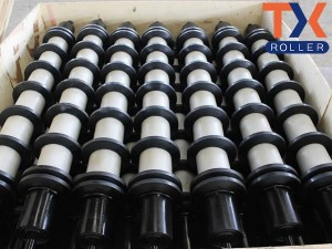 China New Product Steel Pipe Garland Roller - Rubber Disc Return Roller – TongXiang