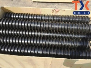 Hot sale Factory Hdpe Pipe Rigging Roller - Rubber Spiral Return Roller – TongXiang