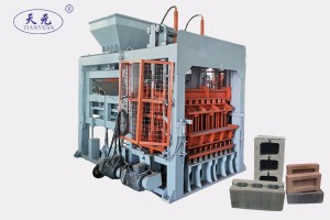 Automatic working block machine making hollow block and paver brick