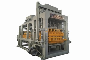 High output model QTY10-15 automatic cement hollow block making machine