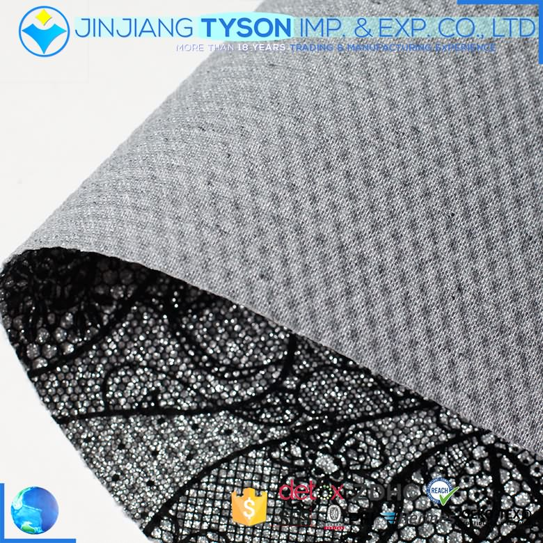 ECO-friendly mirror surface woven PU glitter woven synthetic leather