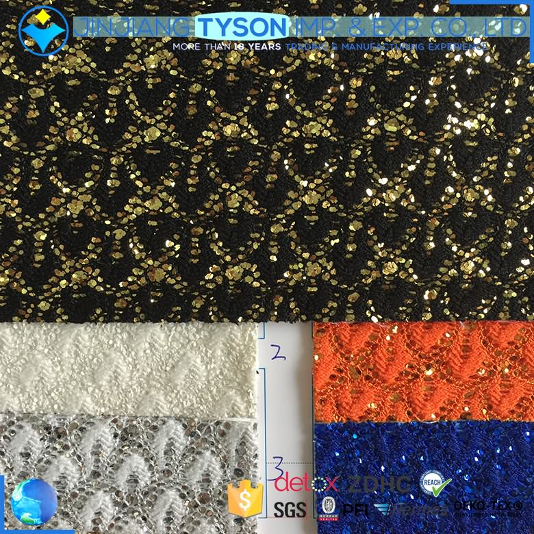 Abrasion-Resistant artificial pu mesh glitter leather fabric