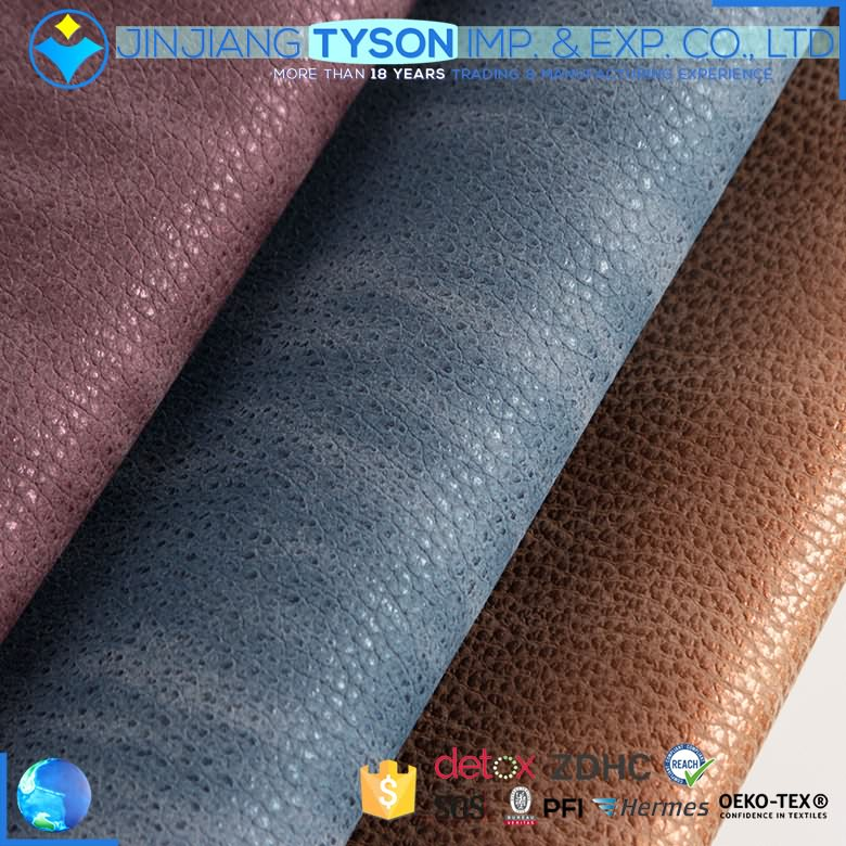 stock 1.1mm knitted backing pu synthetic leather fabric for shoes making