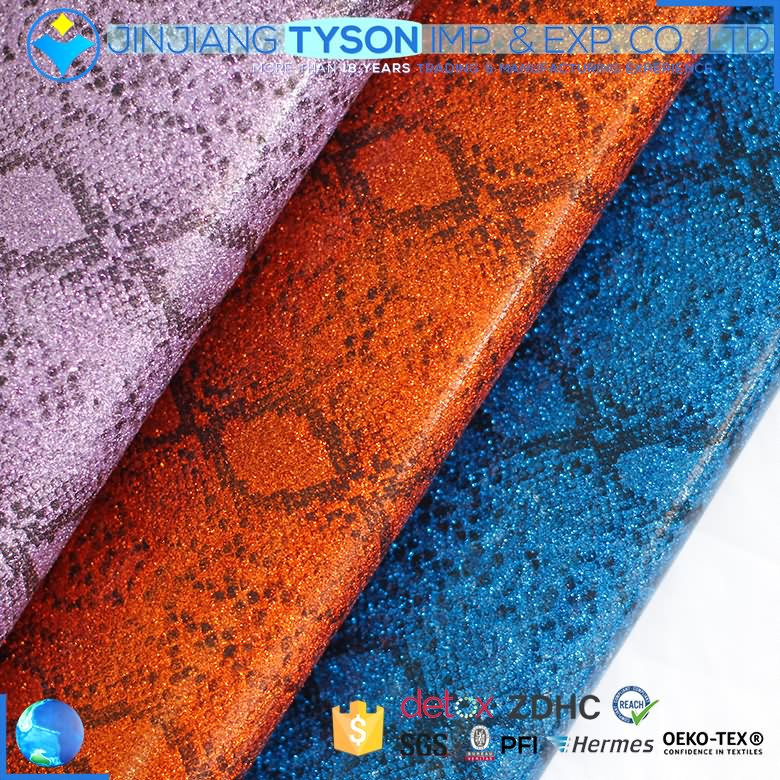 Customized thickness Anti-Mildew material mirror pu glitter leather