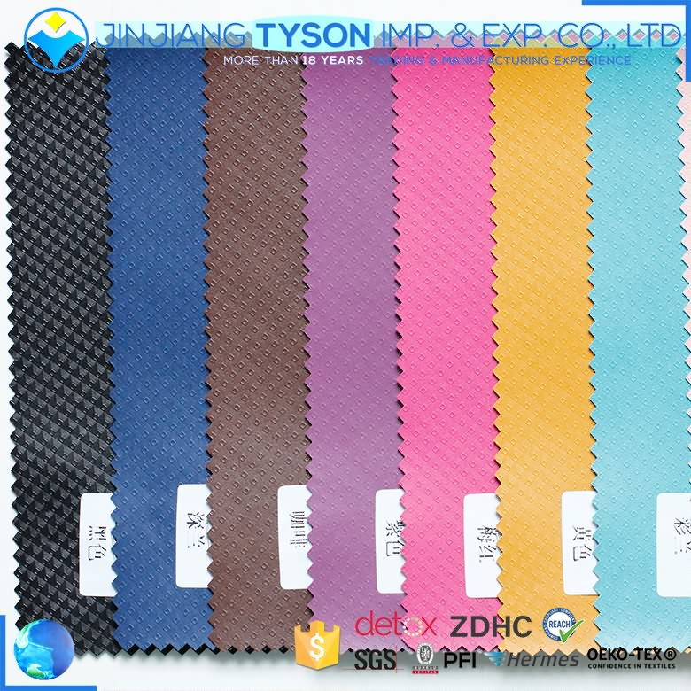 Nonwoven backing thermo-sensitive effect pu leather for phone case