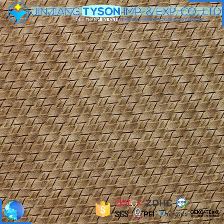 Factory offer embossed pvc artificial leather for bag making