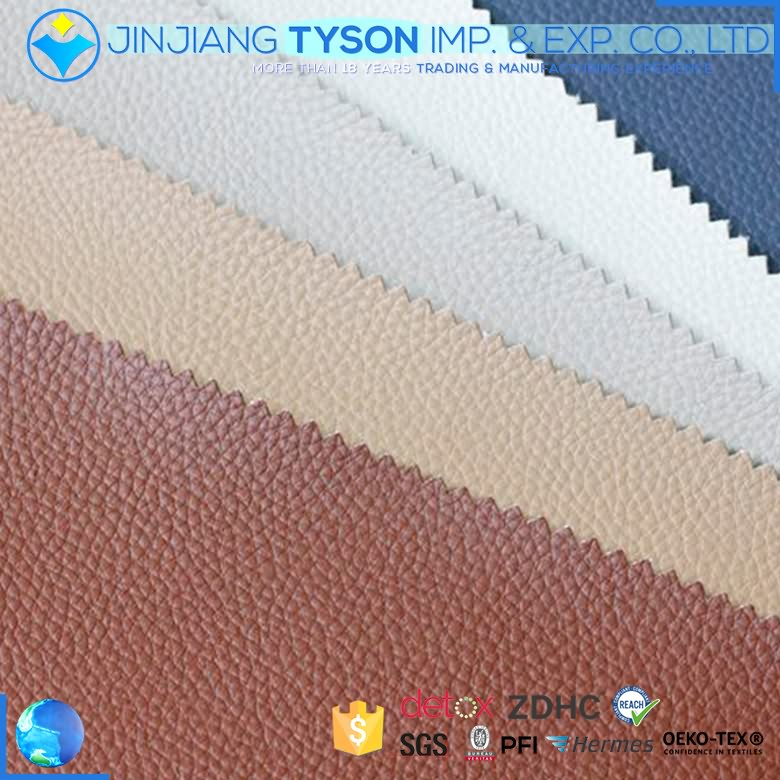 Fire resistance finished pvc faux synthetic leather for furniture