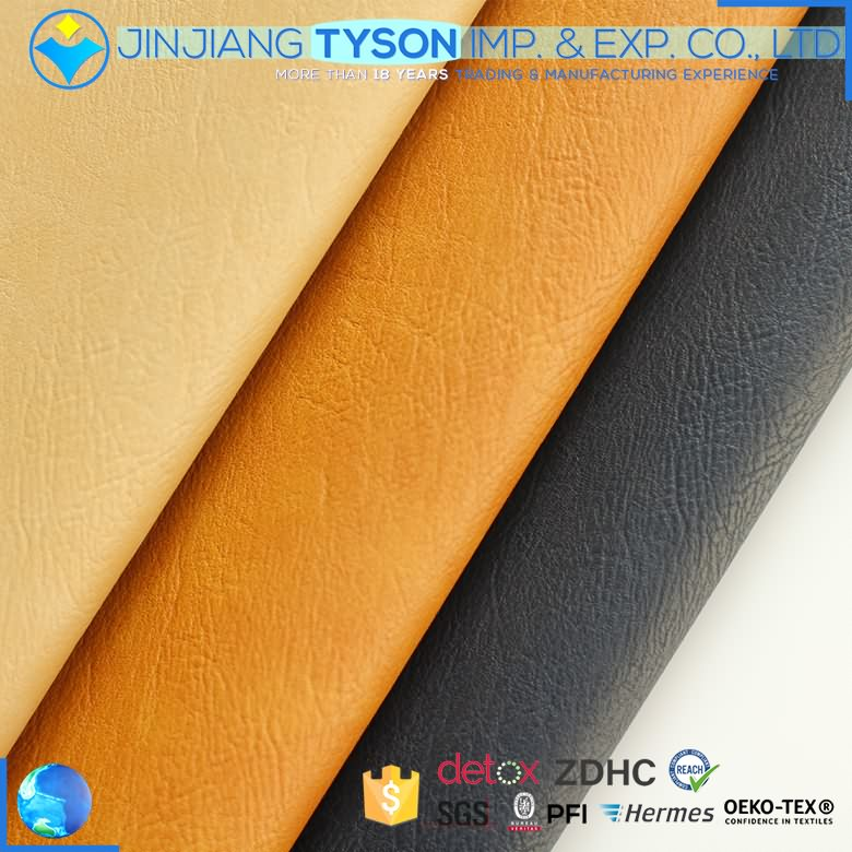 Finely processed elastic custom polyurethane waterbase embossed pu leather