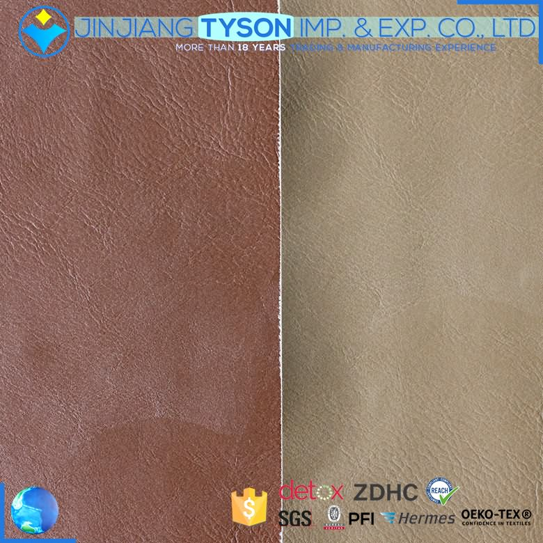 Softness eco friendly embossing faux artificial pu leather fabric for making shoes