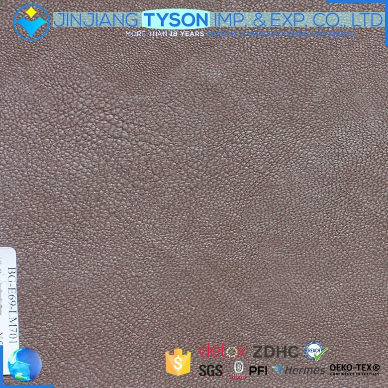 Factory OEM service shoes making knitted embossed pvc leather fabric for sale