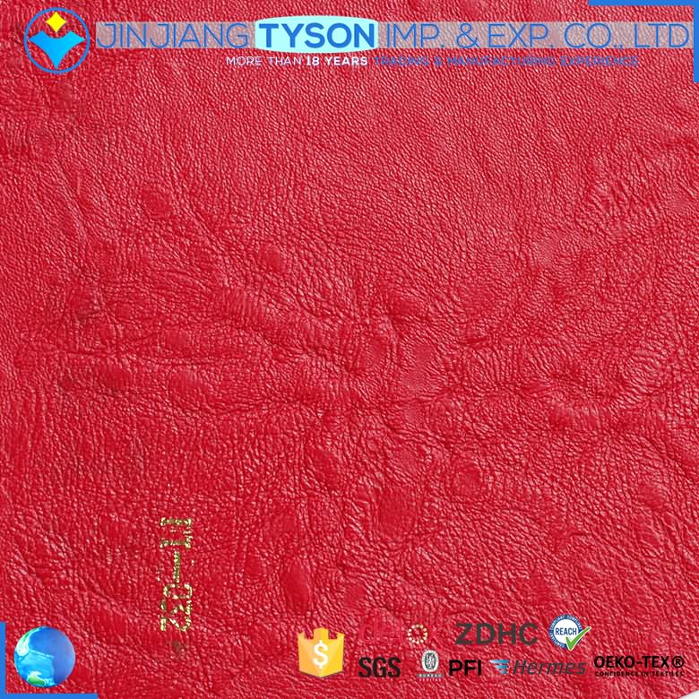 OEM service knitted backing pvc pu artificial leather for handbag making