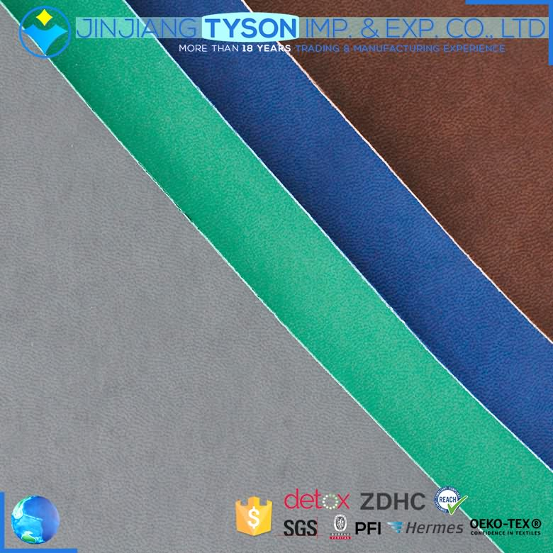 Nonwoven backing Anti-Mildew pu synthetic leather for notebook making