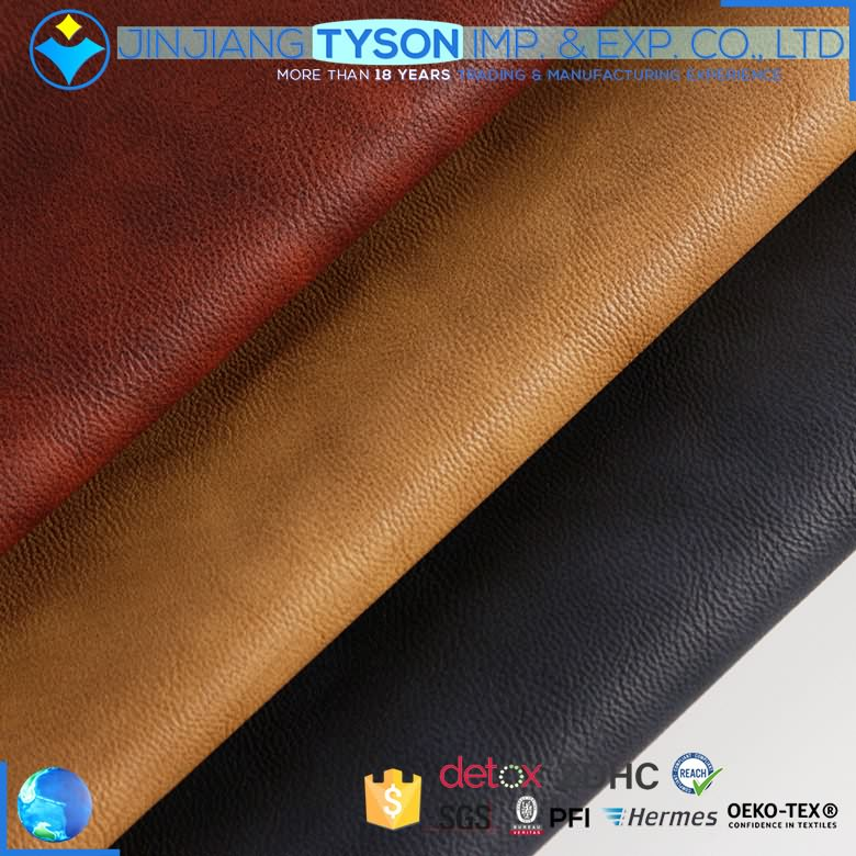 Factory offer finished knitted backing 1.0mm artificial synthetic pu shoe leather