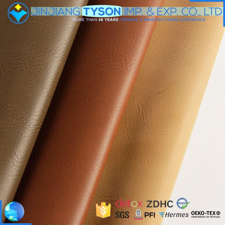 Wholesale ECO-friendly waterborne faux PU leather fabrics