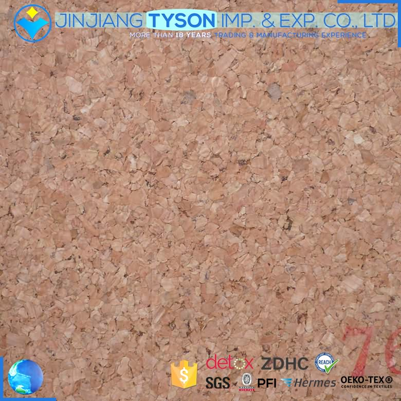 Customized woven backing natural cork leather fabric for wall covering