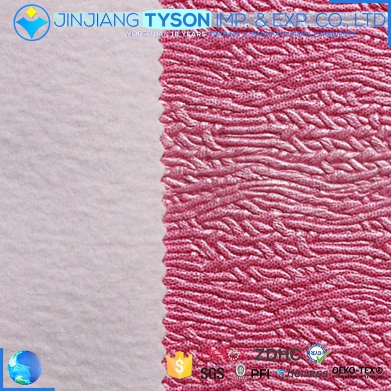Wholesale waterproof design 1.1mm pvc artificial leather for bags