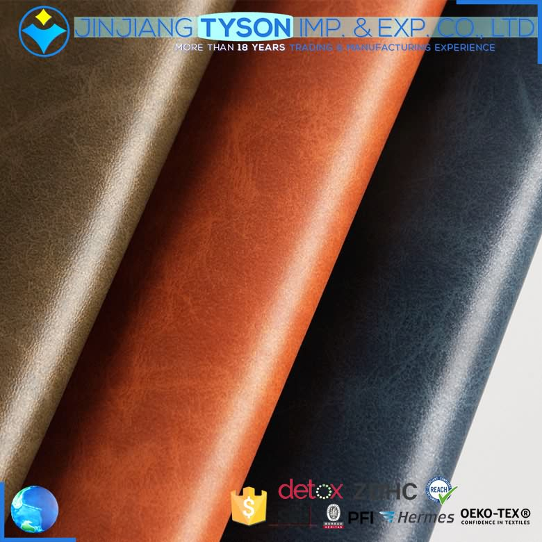 Finished 1.0mm chunky water-based pu synthetic eco-friendly faux leather