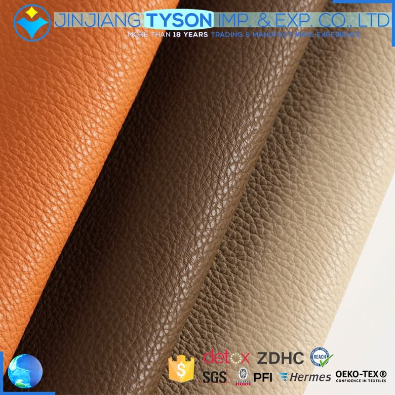 Custom made cheap embossed soft elastic waterborne pu leather for shoes