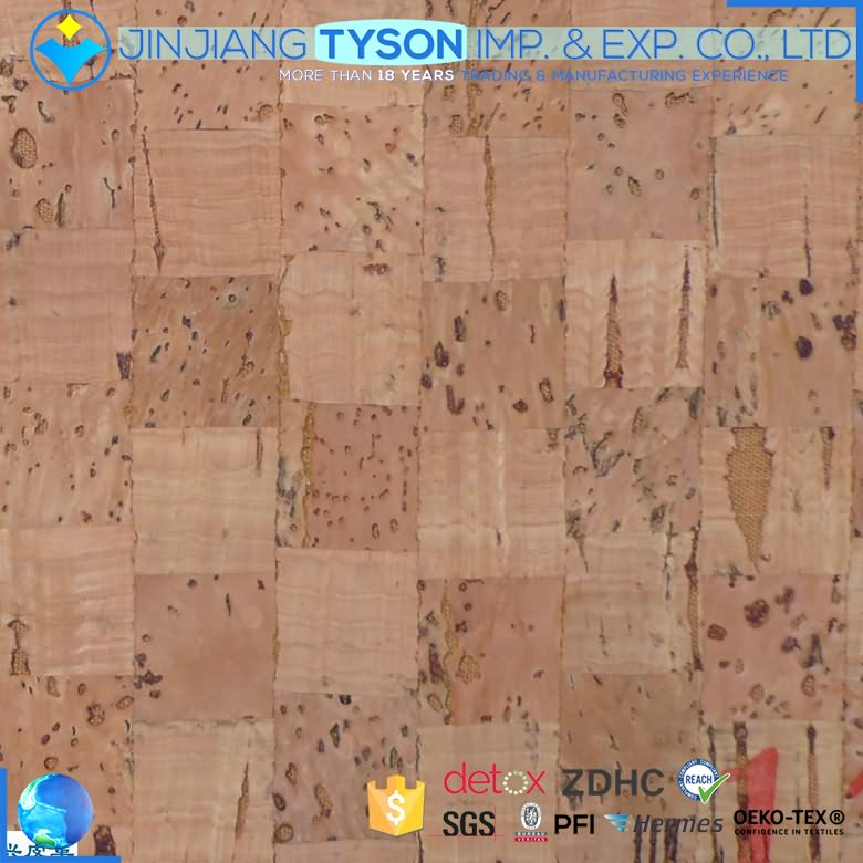 New style wood surface fashion synthetic natural cork fabric sheet