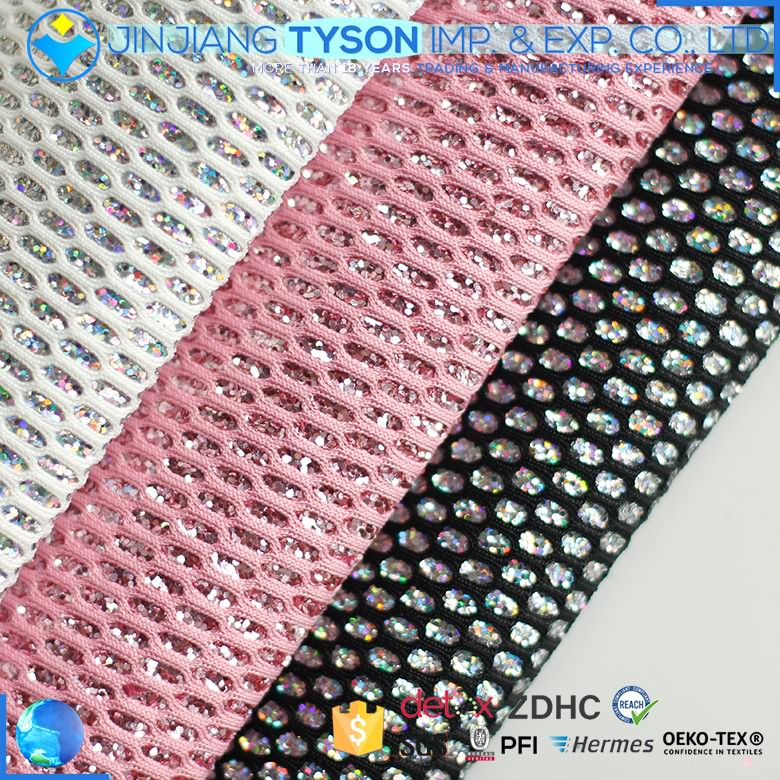 Attractive design contain paillette synthetic leather pu glitter fabric