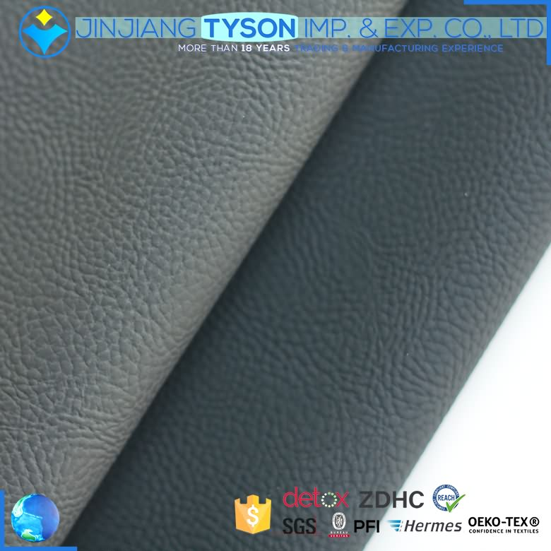 Factory customized waterborne artificial faux knitted pu leather fabric