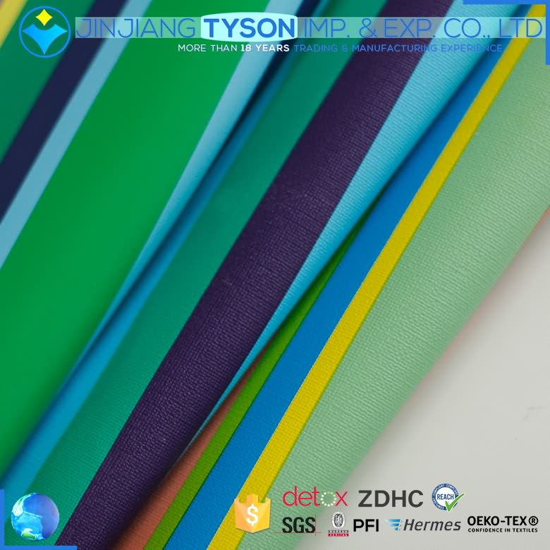 Stitchability rexine synthetic whole colored pvc leather for sofa