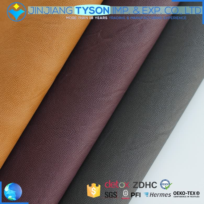 Luxuriant in design rexine synthetic material waterbase pu leather fabric