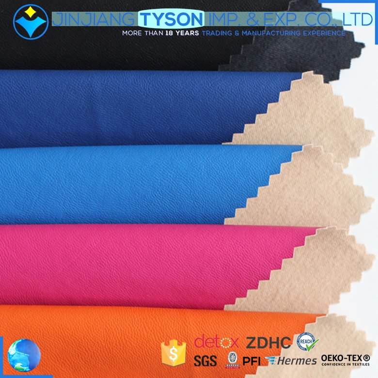 Factory price multicolor woven backing pu material rexine cloth roll